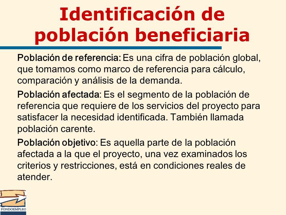 Identificación de población beneficiaria