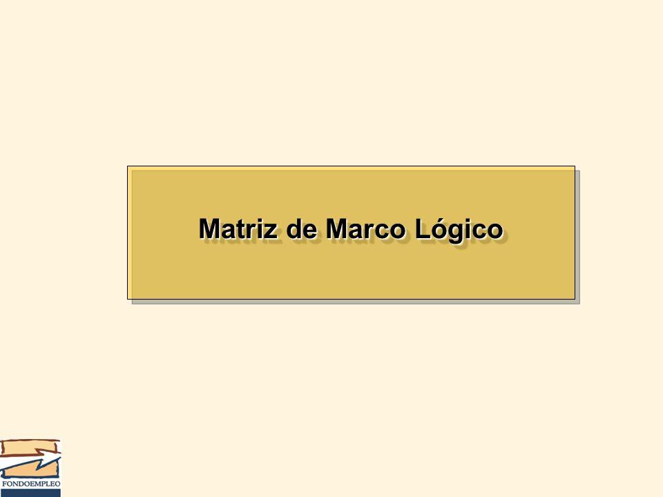 Matriz de Marco Lógico
