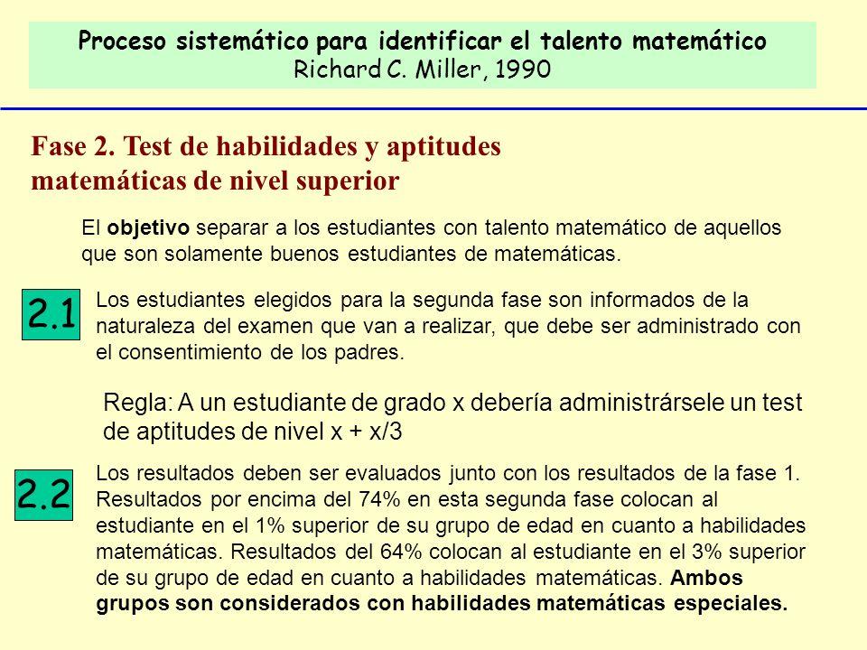 Proceso sistemático para identificar el talento matemático Richard C