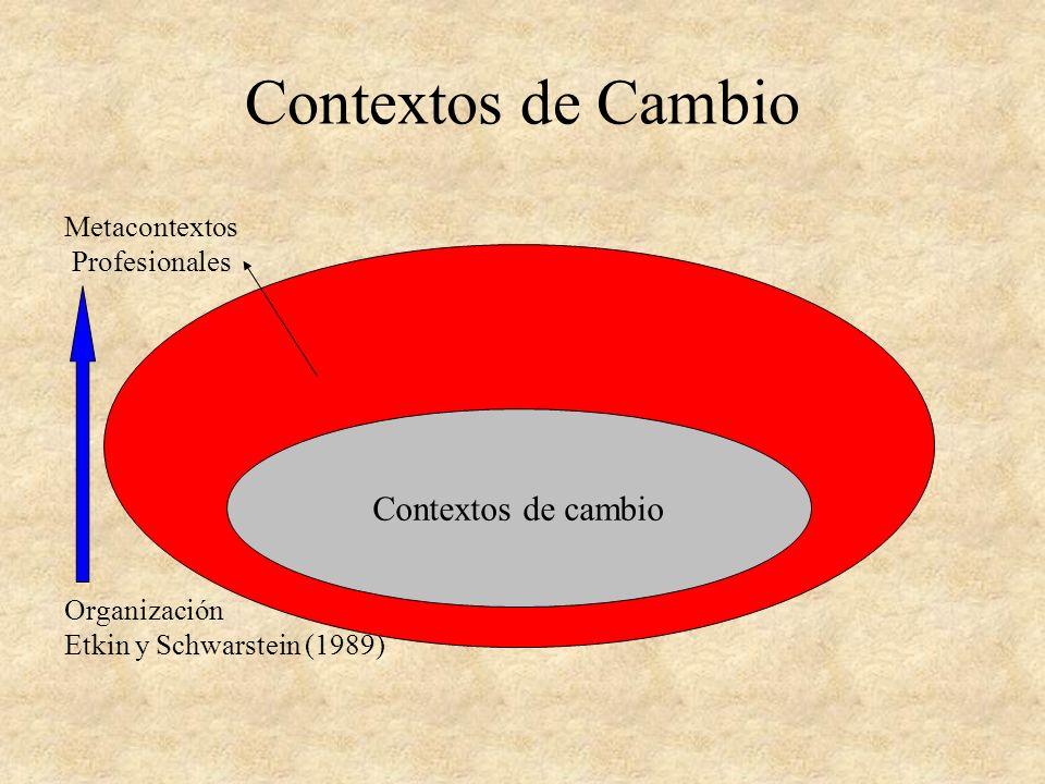 Contextos de Cambio Contextos de cambio Metacontextos Profesionales