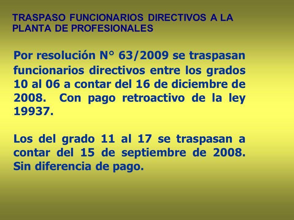 TRASPASO FUNCIONARIOS DIRECTIVOS A LA PLANTA DE PROFESIONALES