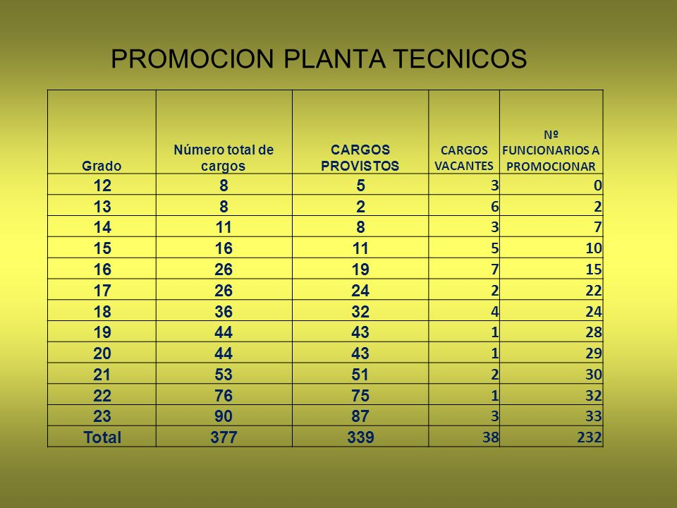 PROMOCION PLANTA TECNICOS