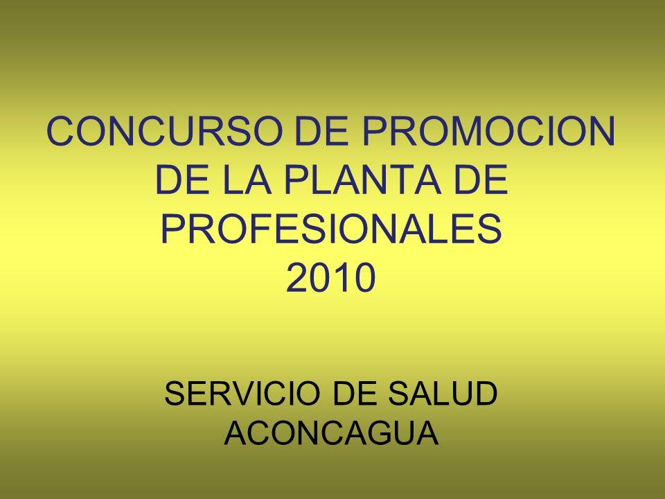 CONCURSO DE PROMOCION DE LA PLANTA DE PROFESIONALES 2010