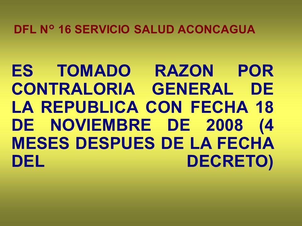 DFL N° 16 SERVICIO SALUD ACONCAGUA