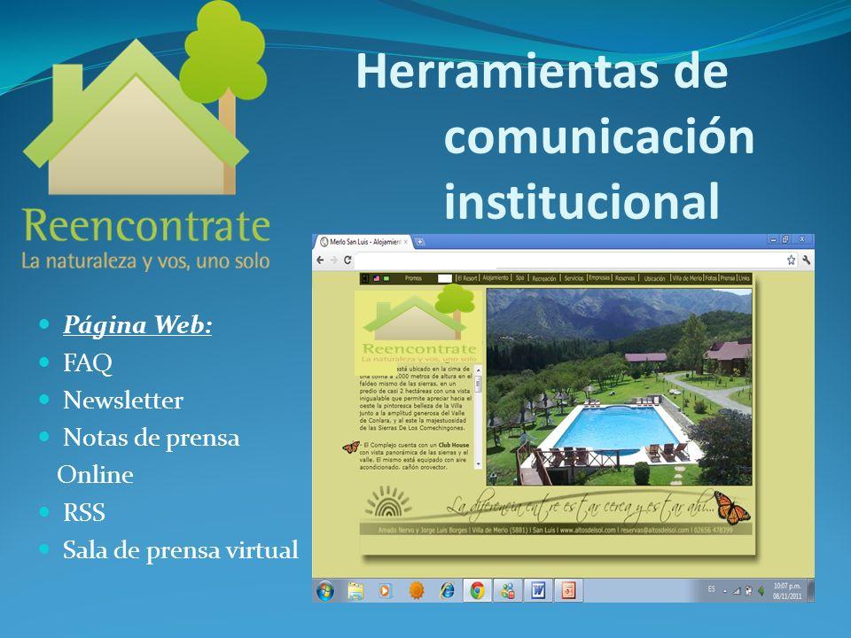 Herramientas de comunicación institucional