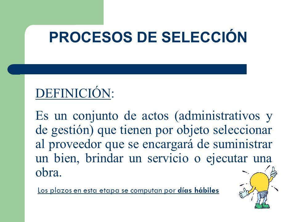 PROCESOS DE SELECCIÓN DEFINICIÓN: