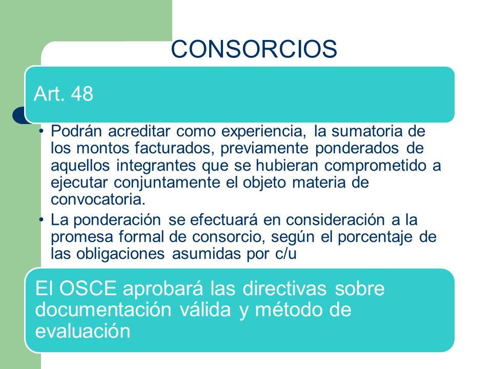 CONSORCIOS Art. 48.