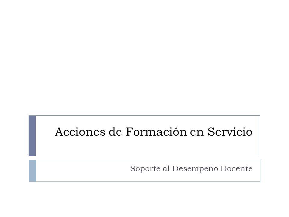 Acciones de Formación en Servicio