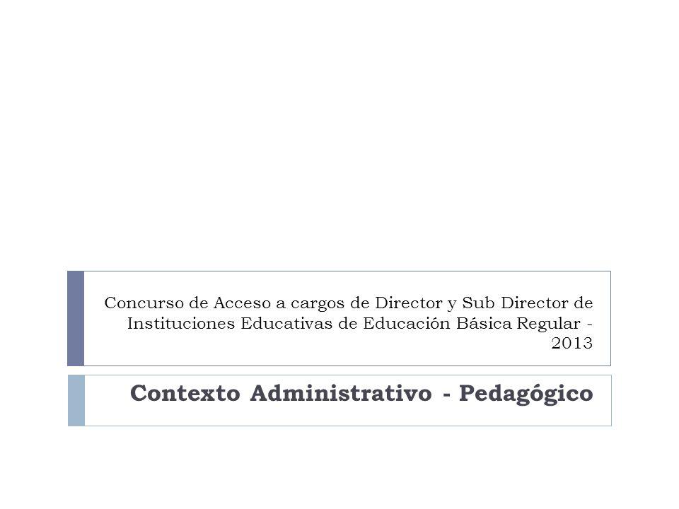 Contexto Administrativo - Pedagógico