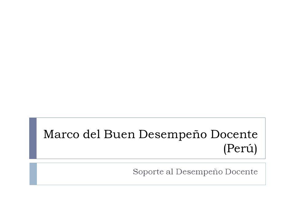 Marco del Buen Desempeño Docente (Perú)