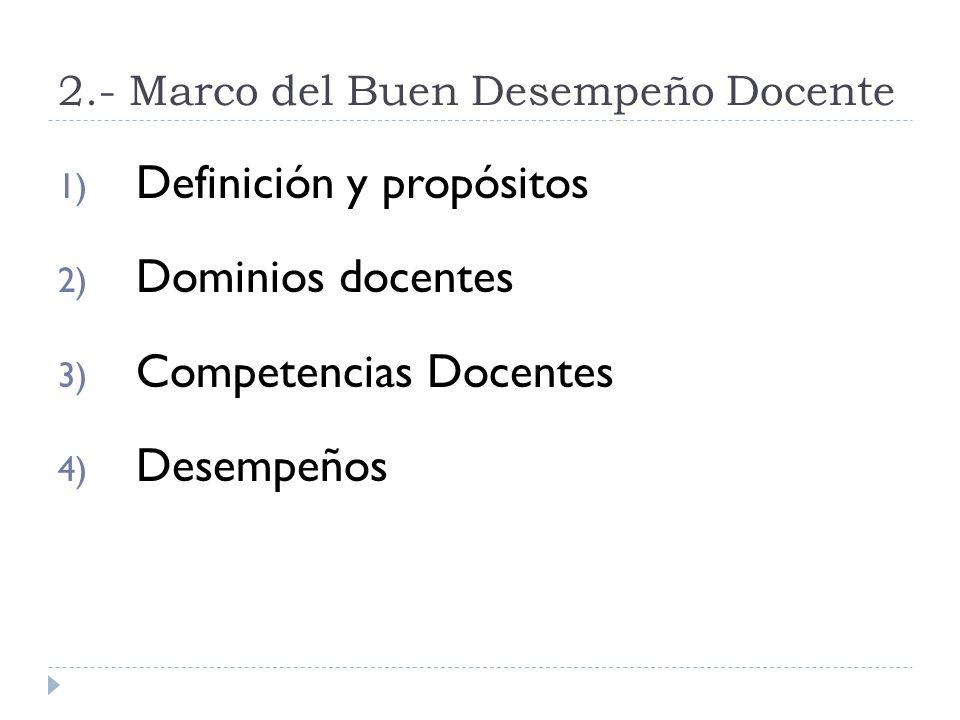 2.- Marco del Buen Desempeño Docente