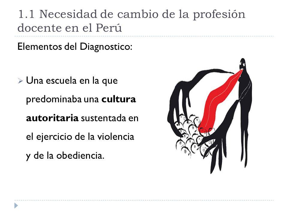 1.1 Necesidad de cambio de la profesión docente en el Perú
