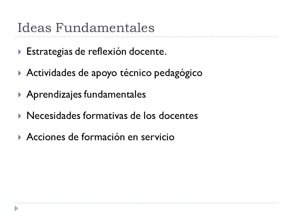 Ideas Fundamentales Estrategias de reflexión docente.