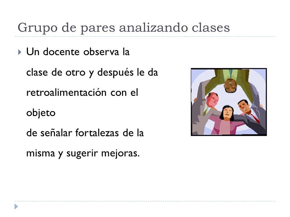 Grupo de pares analizando clases