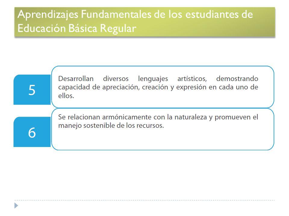 Aprendizajes Fundamentales de los estudiantes de Educación Básica Regular