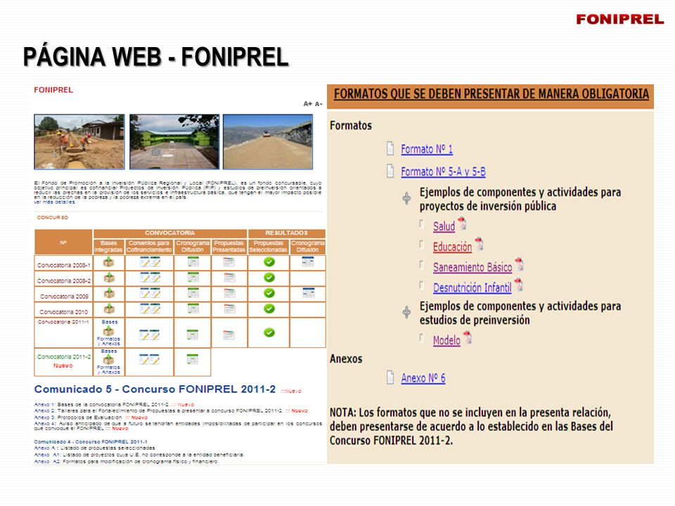 PÁGINA WEB - FONIPREL