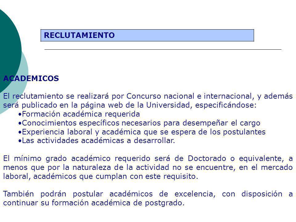 Formación académica requerida