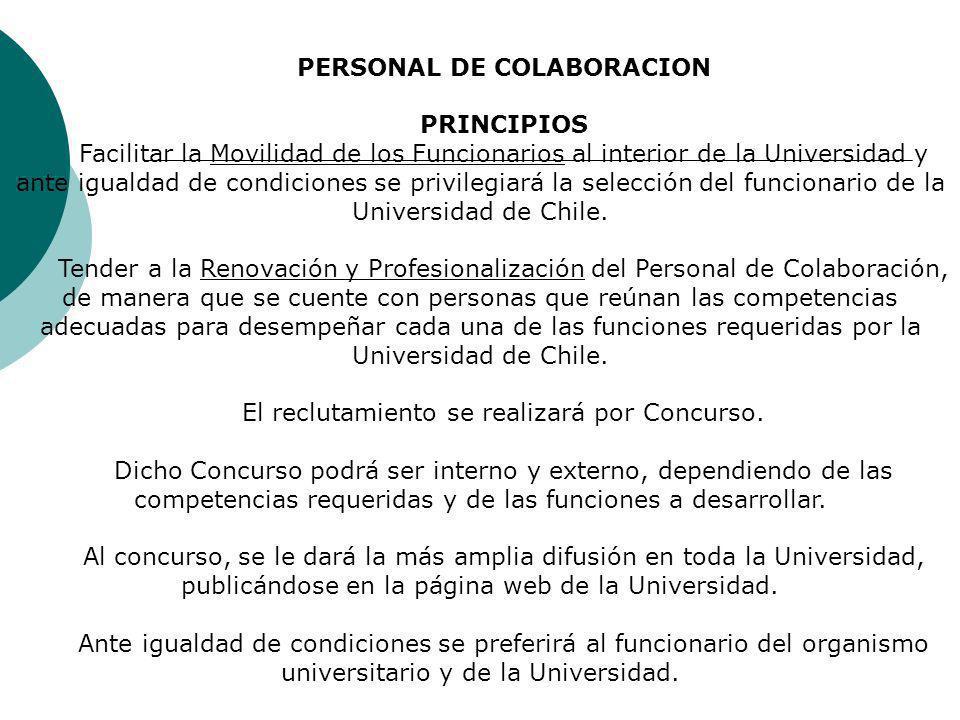PERSONAL DE COLABORACION PRINCIPIOS