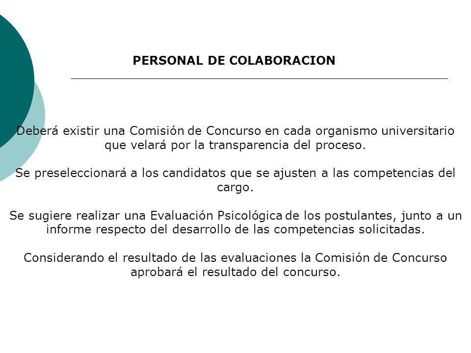PERSONAL DE COLABORACION