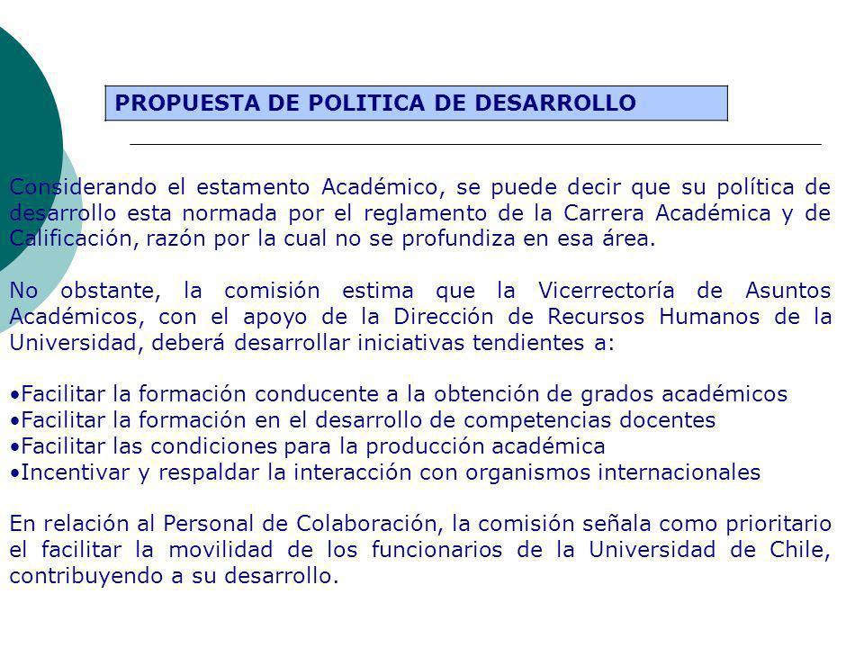 PROPUESTA DE POLITICA DE DESARROLLO