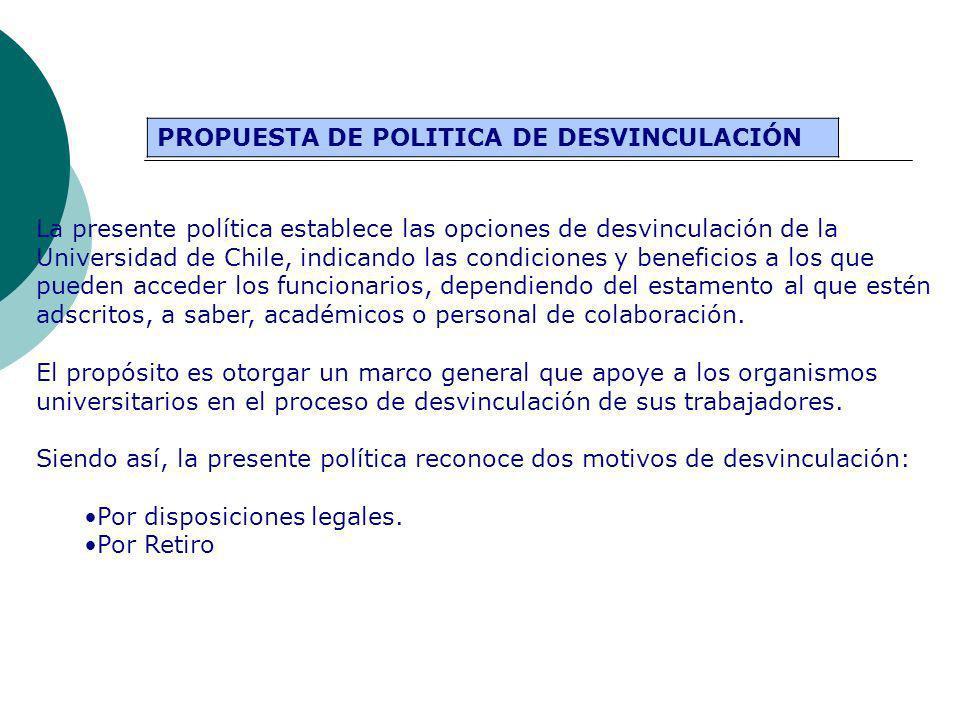 PROPUESTA DE POLITICA DE DESVINCULACIÓN