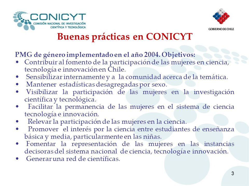 Buenas prácticas en CONICYT