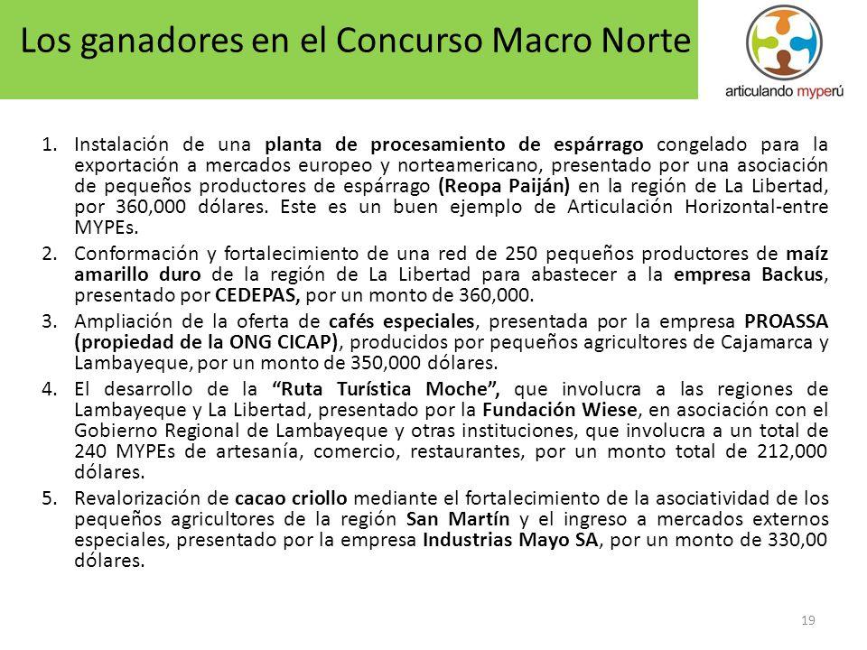 Los ganadores en el Concurso Macro Norte