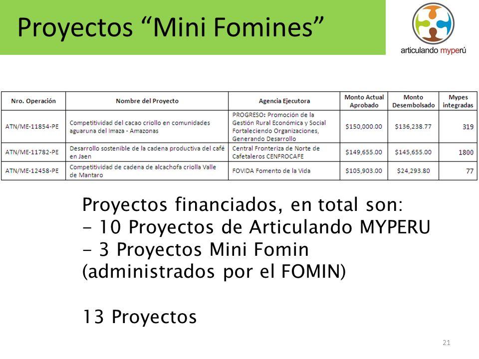 Proyectos Mini Fomines