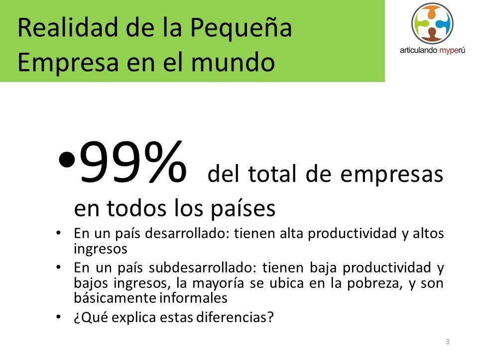 99% del total de empresas en todos los países
