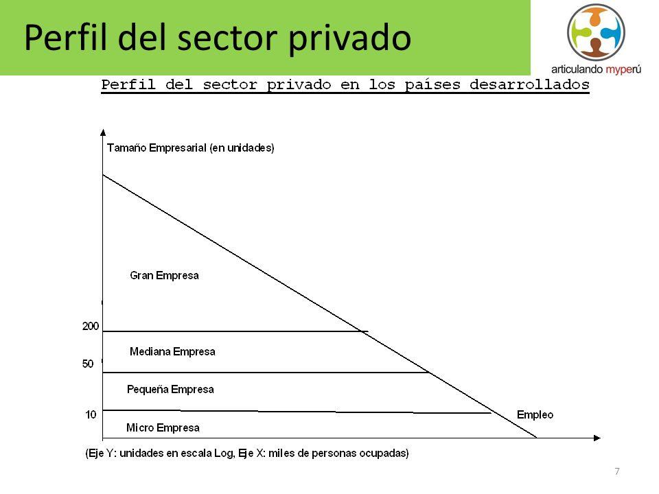 Perfil del sector privado
