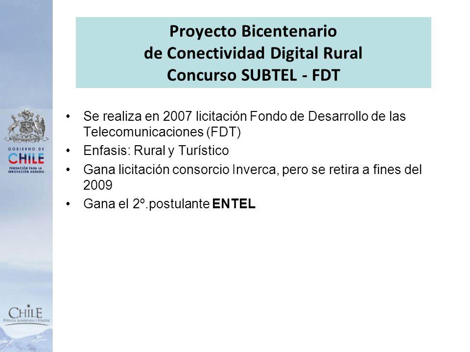 Proyecto Bicentenario de Conectividad Digital Rural Concurso SUBTEL - FDT