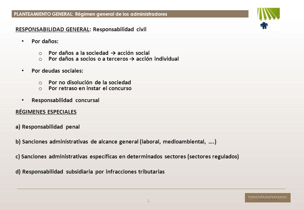 RESPONSABILIDAD GENERAL: Responsabilidad civil Por daños: