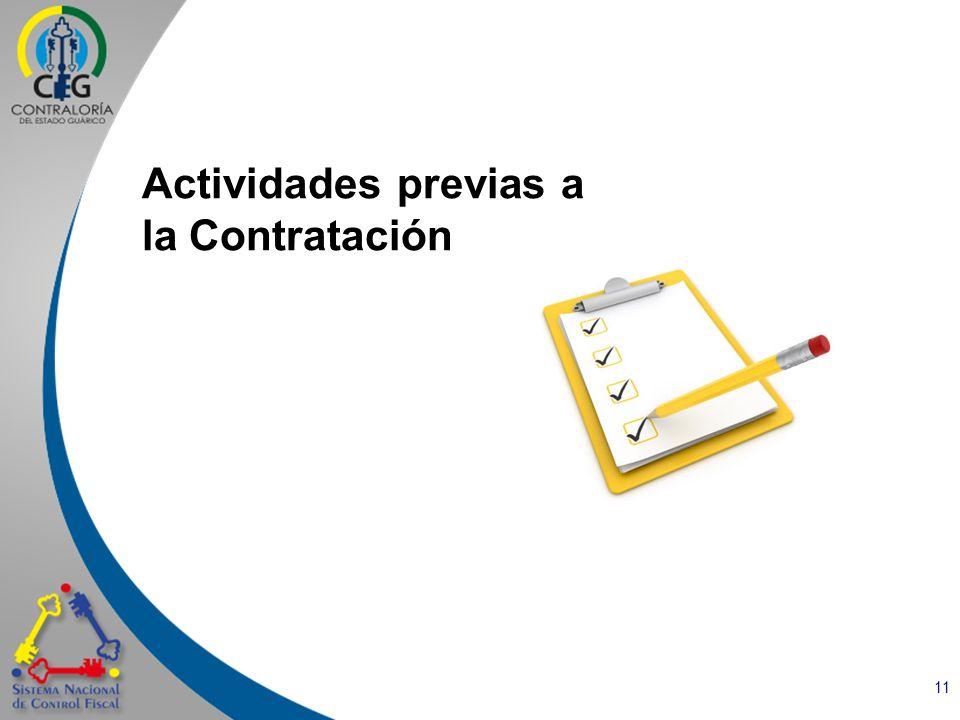 Actividades previas a la Contratación