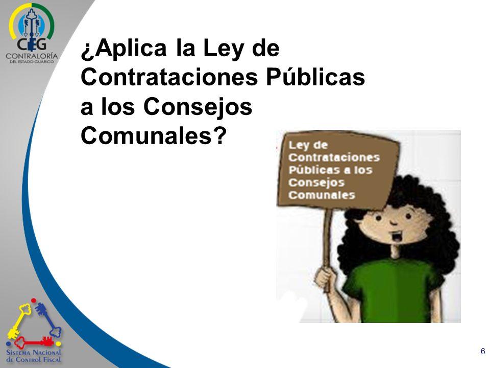¿Aplica la Ley de Contrataciones Públicas a los Consejos Comunales