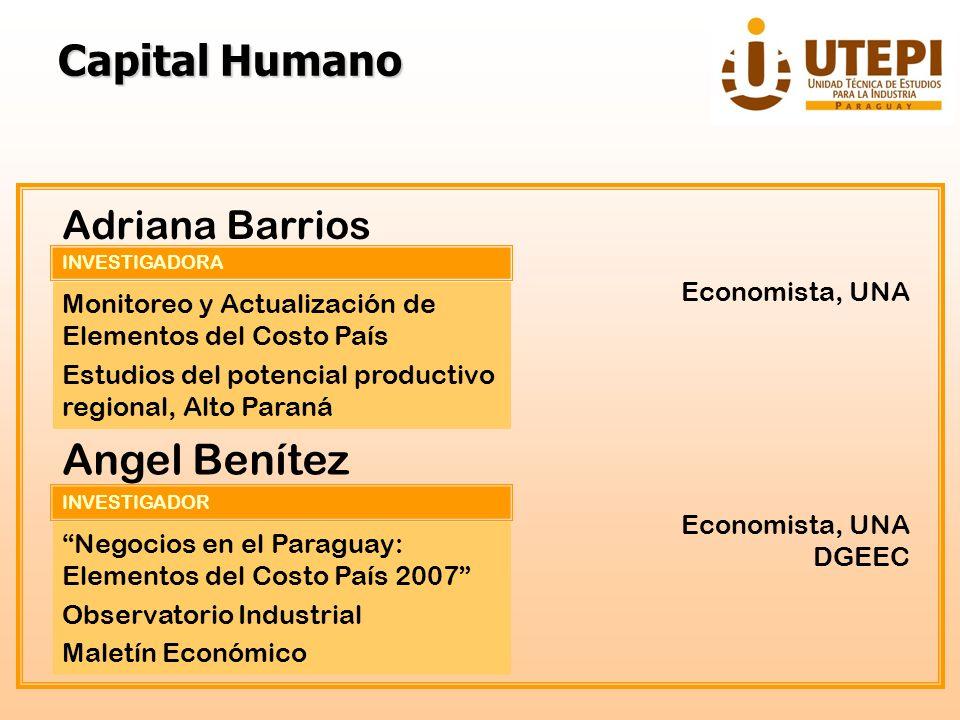 Capital Humano Angel Benítez Adriana Barrios Economista, UNA