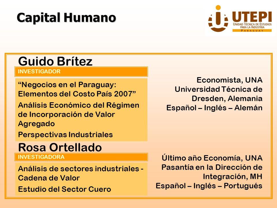 Capital Humano Guido Brítez Rosa Ortellado Economista, UNA