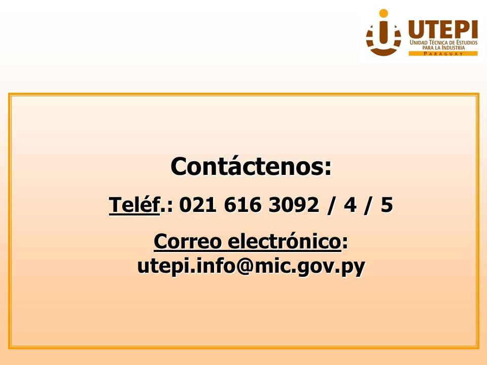 Correo electrónico: utepi.info@mic.gov.py