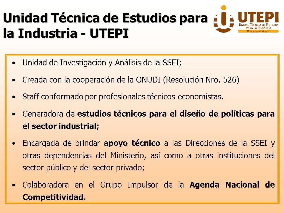 Unidad Técnica de Estudios para la Industria - UTEPI