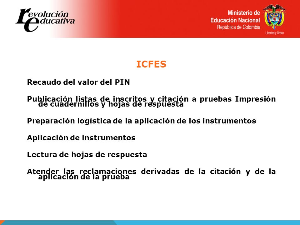 ICFES Recaudo del valor del PIN
