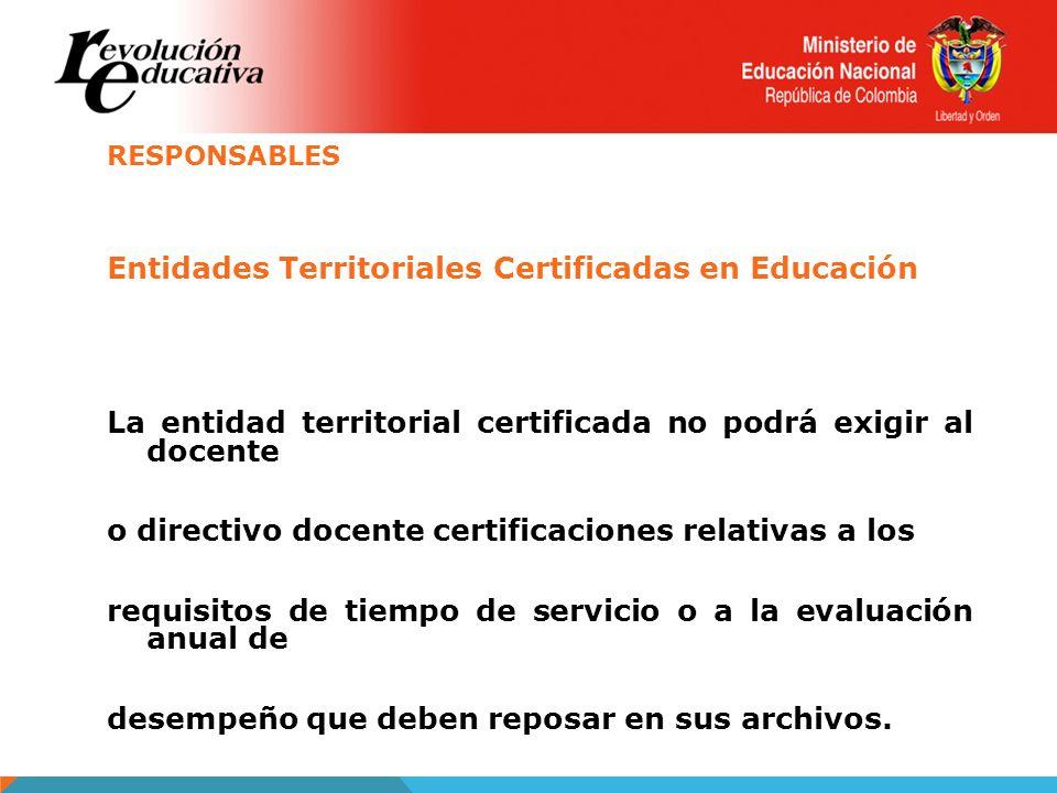Entidades Territoriales Certificadas en Educación