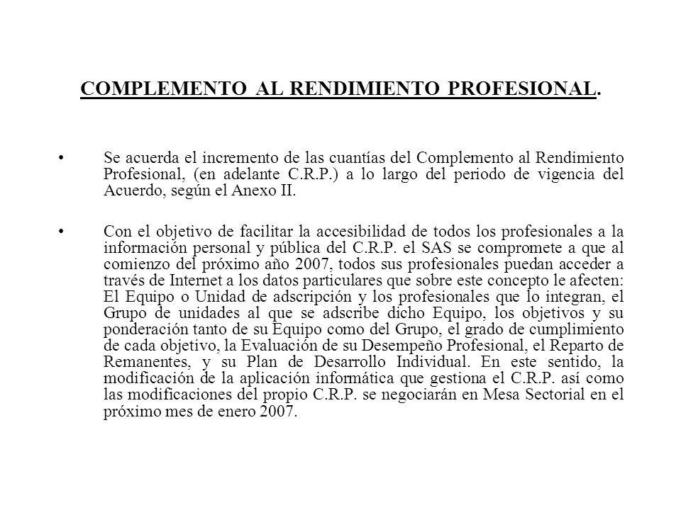 COMPLEMENTO AL RENDIMIENTO PROFESIONAL.