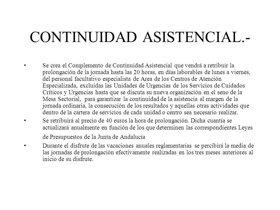 CONTINUIDAD ASISTENCIAL.-