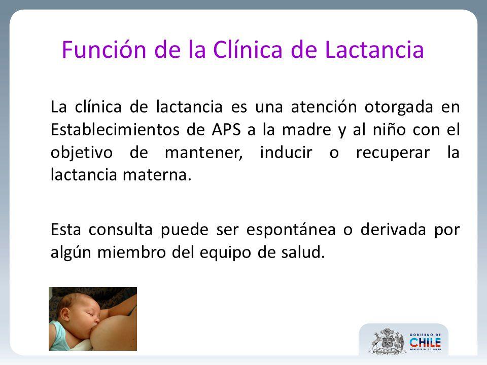 Función de la Clínica de Lactancia