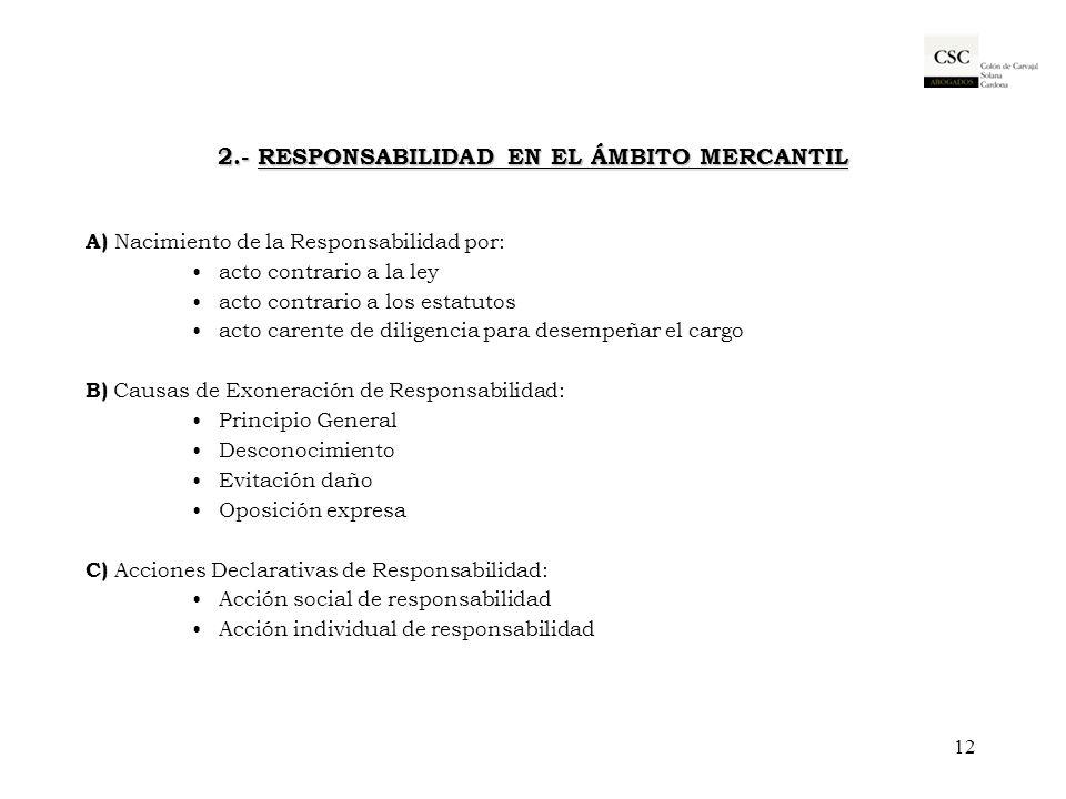 2.- RESPONSABILIDAD EN EL ÁMBITO MERCANTIL