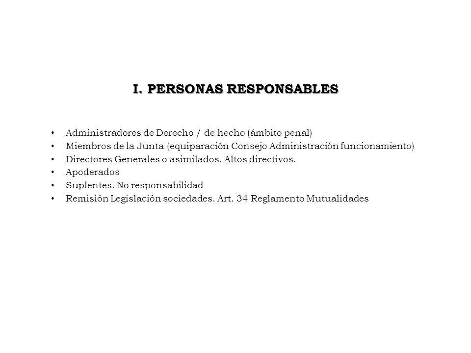 I. PERSONAS RESPONSABLES