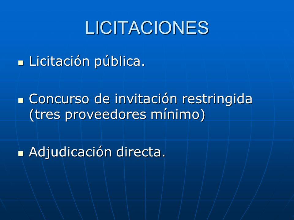 LICITACIONES Licitación pública.