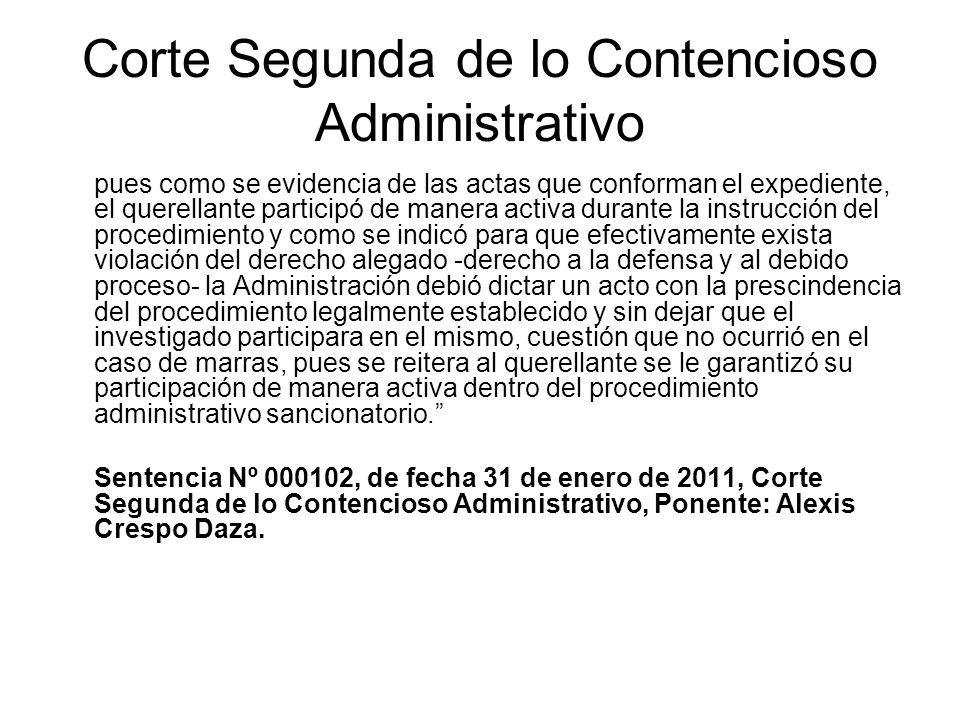 Corte Segunda de lo Contencioso Administrativo