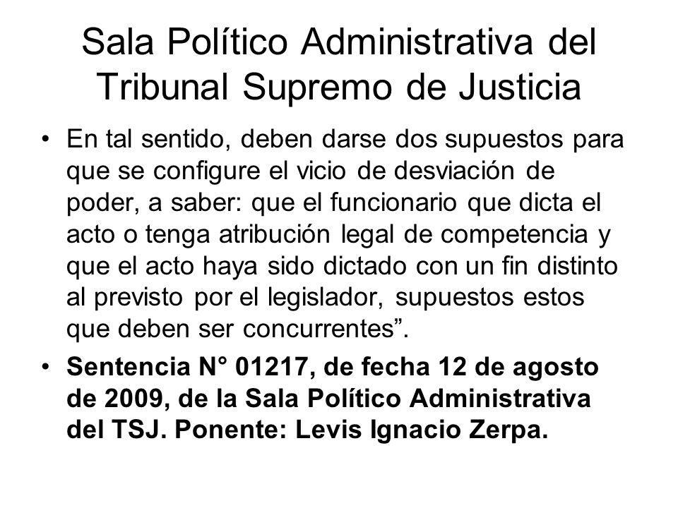 Sala Político Administrativa del Tribunal Supremo de Justicia