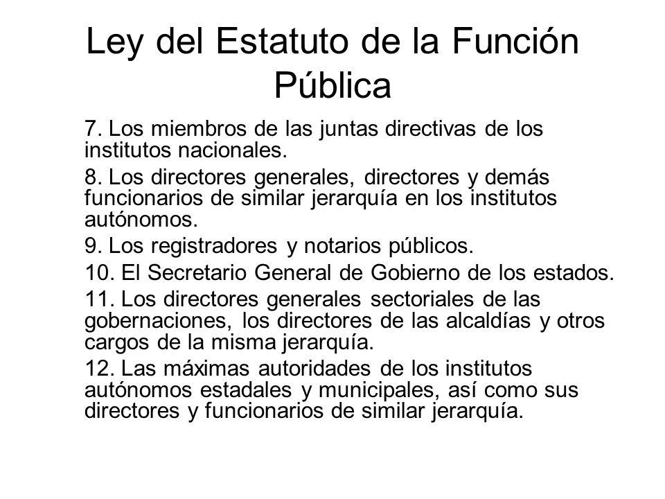 Ley del Estatuto de la Función Pública