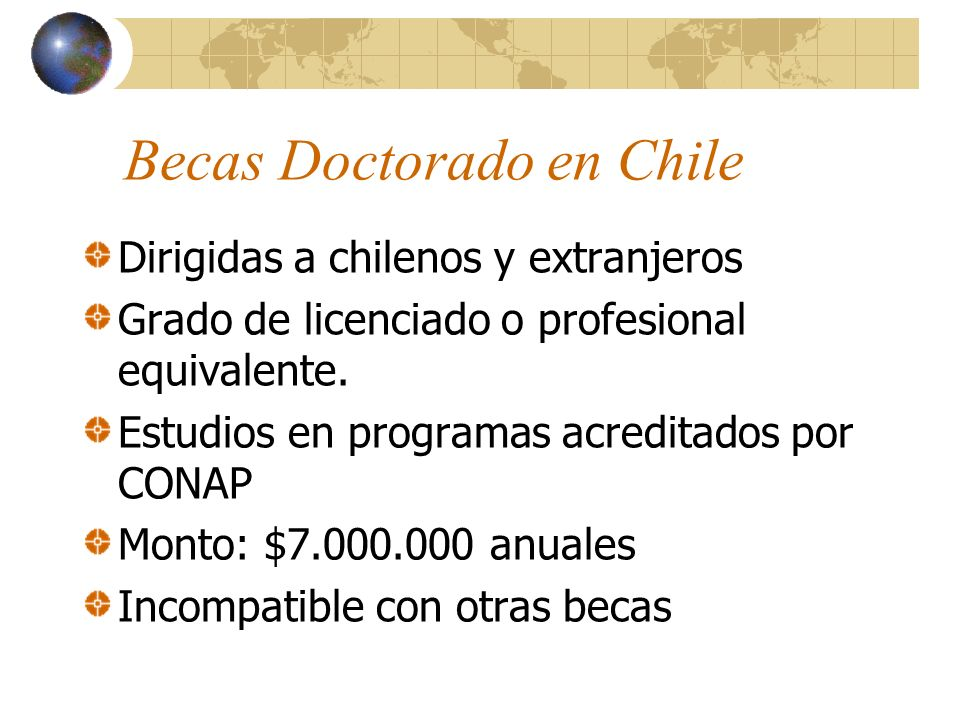 Becas Doctorado en Chile